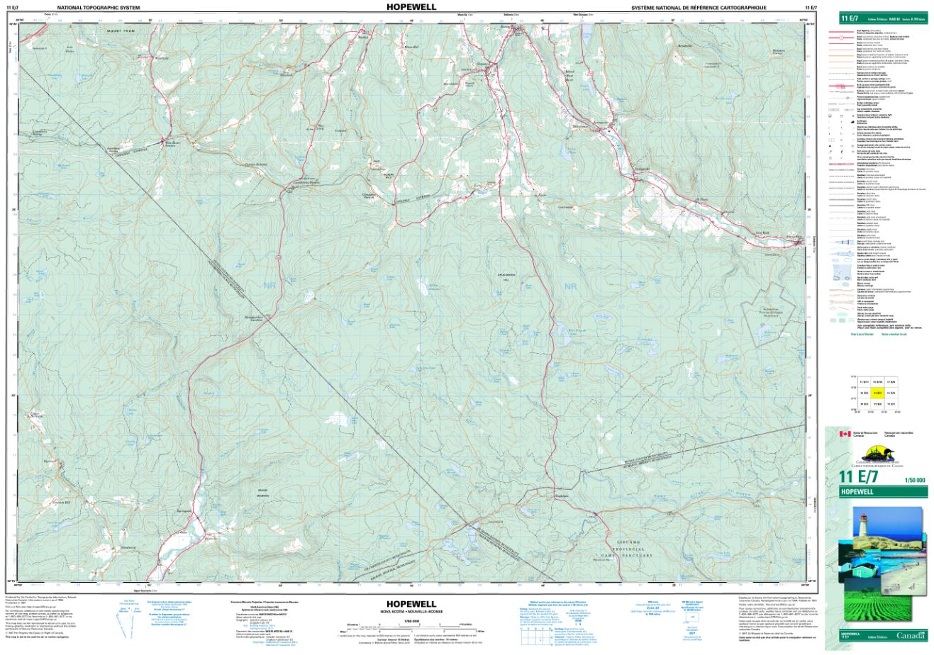 11E/07 Hopewell Topographic Map Nova Scotia