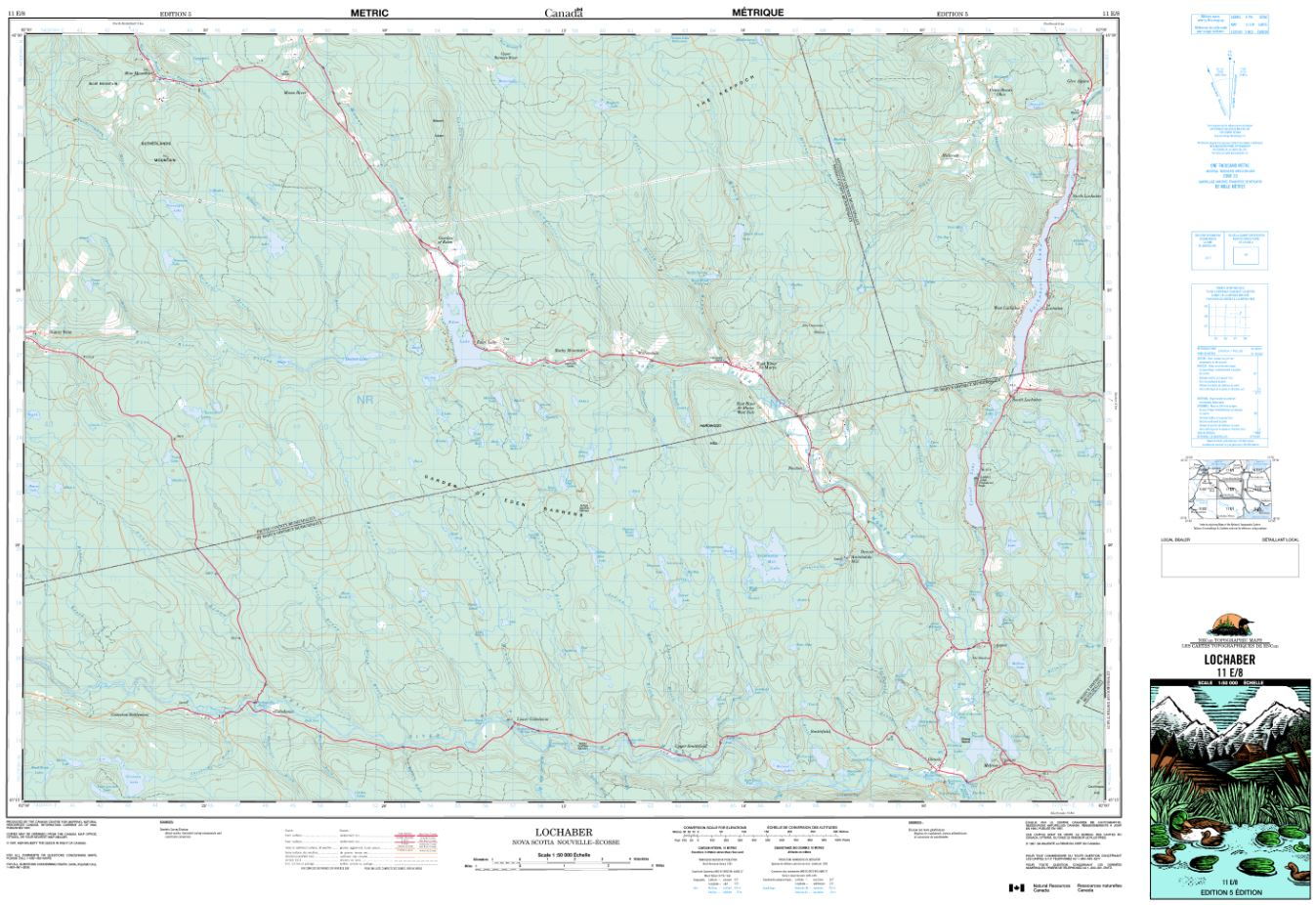 11E/08 Lochaber Topographic Map Nova Scotia