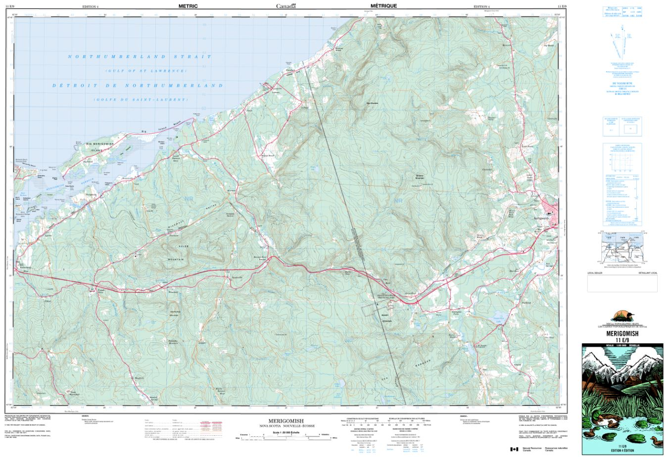 11E/09 Merigomish Topographic Map Nova Scotia