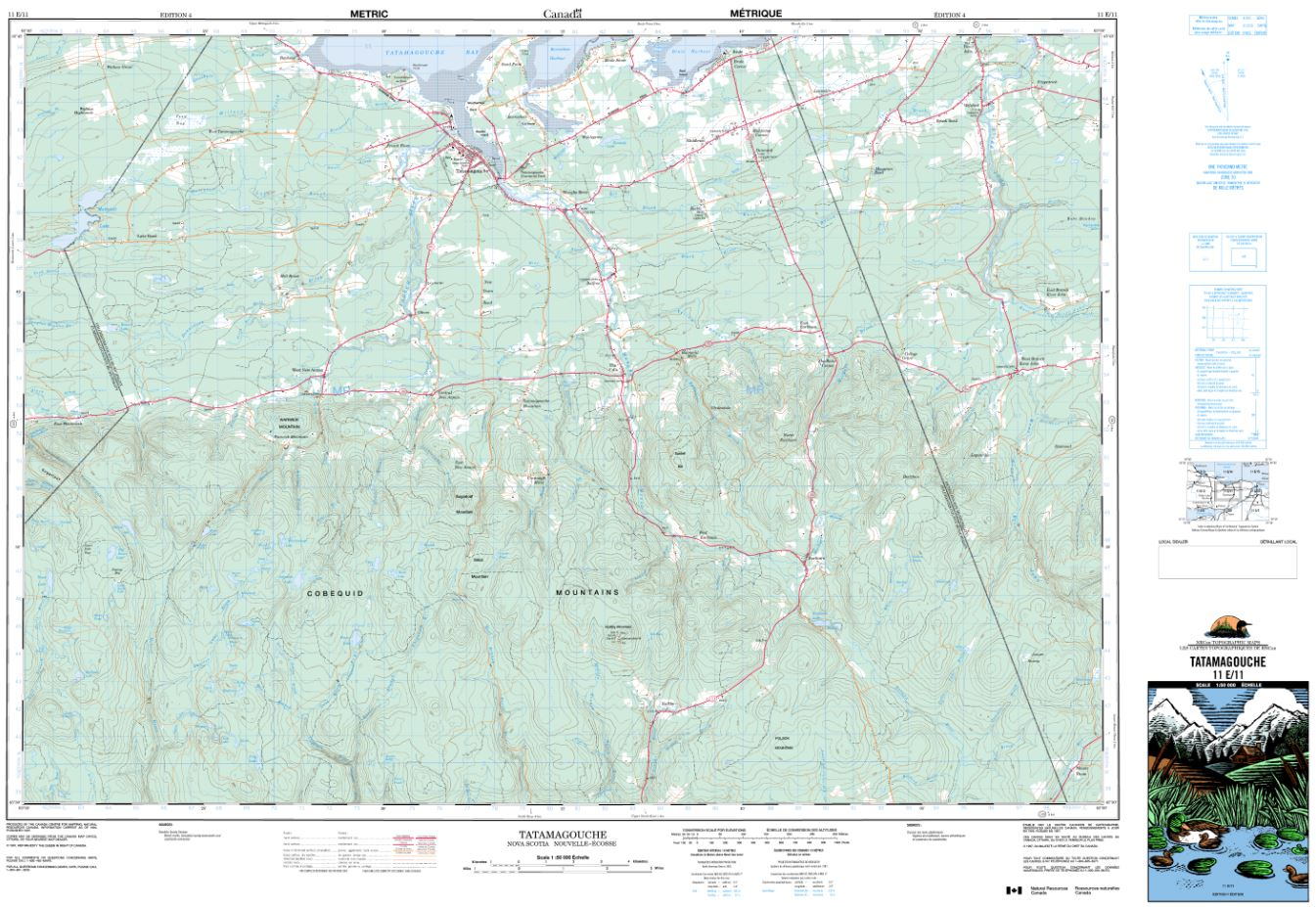 11E/11 Tatamagouche Topographic Map Nova Scotia