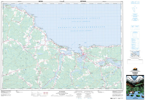 11E/13 Pugwash Topographic Map Nova Scotia