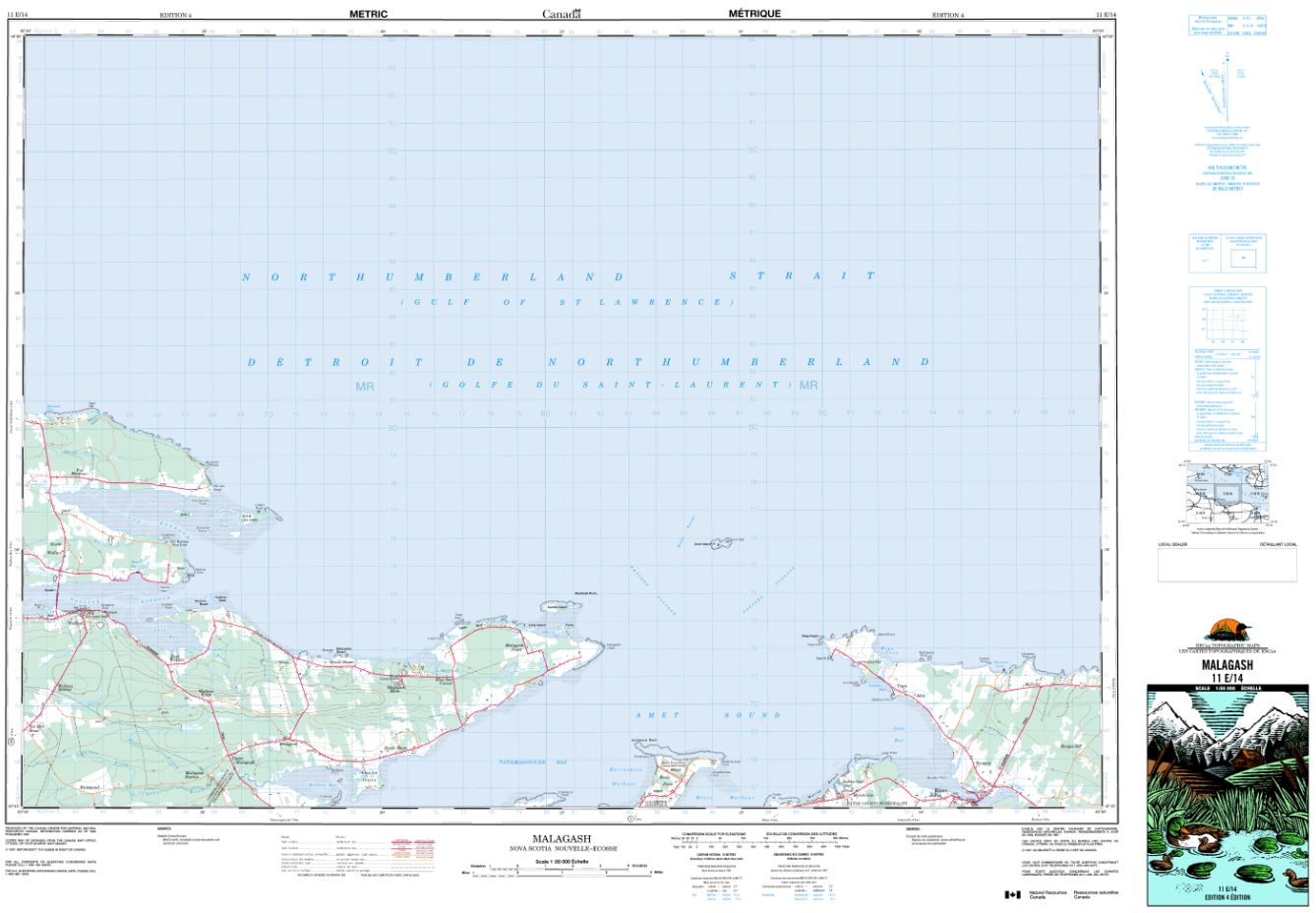 11E/14 Malagash Topographic Map Nova Scotia