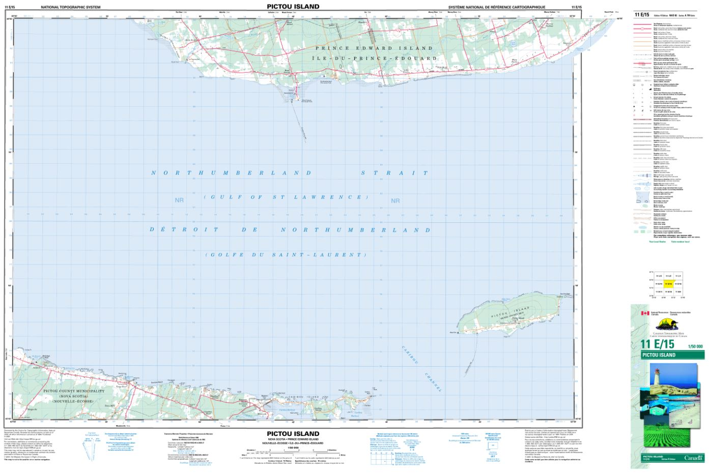11E/15 Pictou Island Topographic Map Nova Scotia