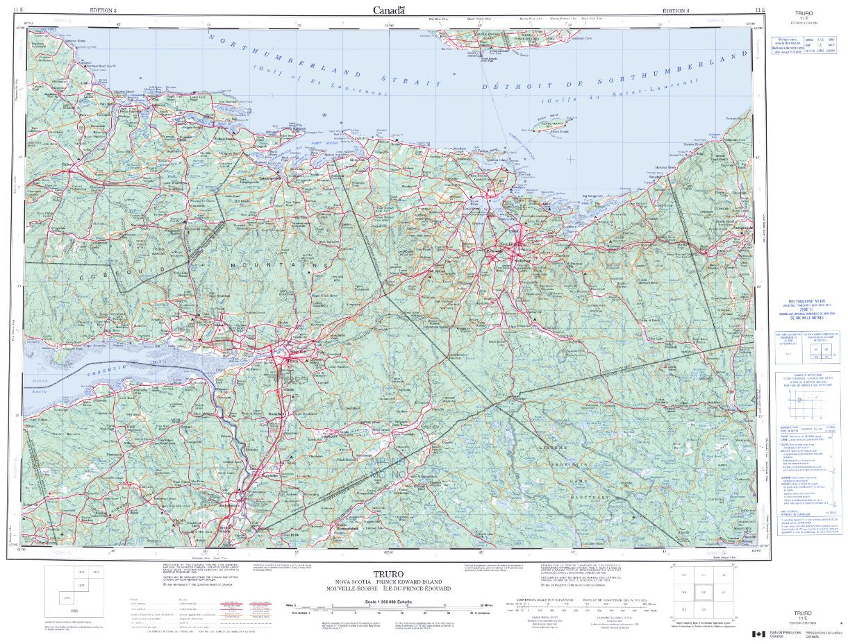 11E Truro Topographic Map Nova Scotia