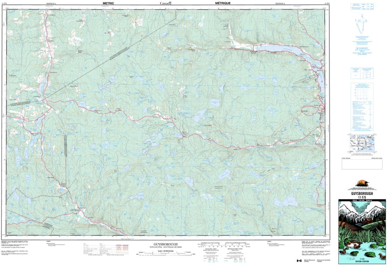 11F/05 Guysborough Topographic Map Nova Scotia