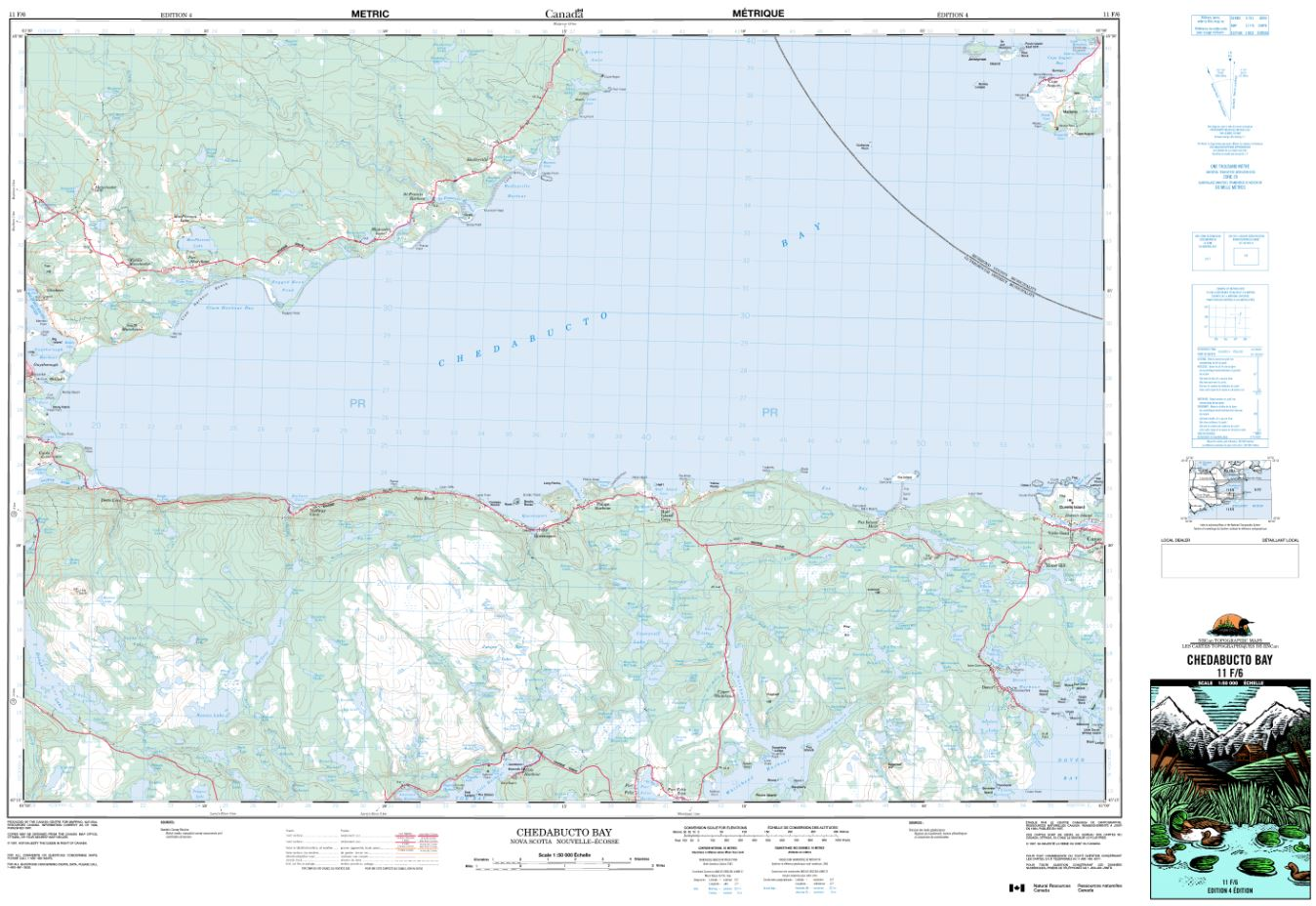 11F/06 Chedabucto Bay Topographic Map Nova Scotia