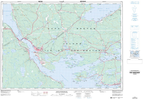 11F/11 Port Hawkesbury Topographic Map Nova Scotia
