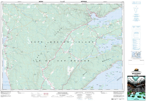 11F/14 Whycocomagh Topographic Map Nova Scotia
