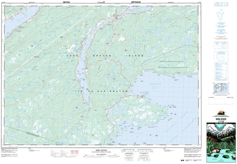 11F/16 Mira River Topographic Map Nova Scotia
