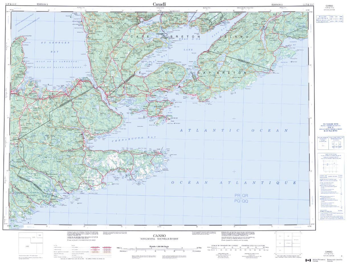 11F Canso Topographic Map Nova Scotia