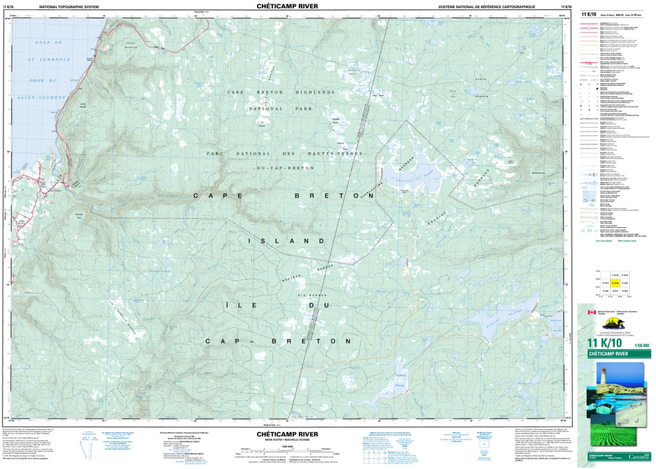 11K/10 Cheticamp River Topographic Map Nova Scotia