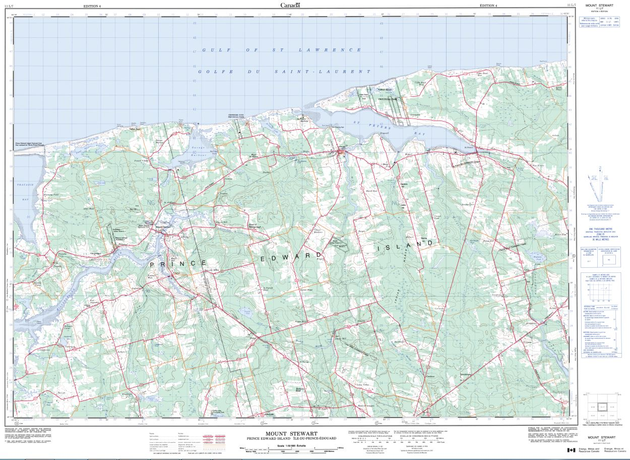 11L/07 Mount Stewart Topographic Map Prince Edward Island