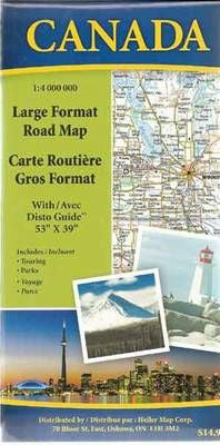 Canada Large Format Road Map