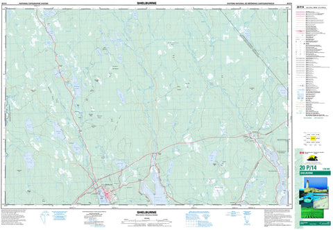 20P/14 Shelburne Topographic Map Nova Scotia