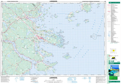 21A/08 Lunenburg Topographic Map Nova Scotia
