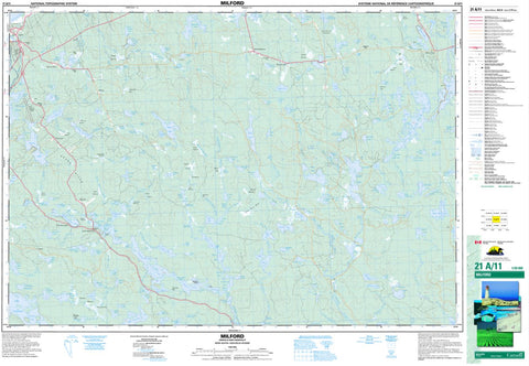 21A/11 Milford Topographic Map Nova Scotia