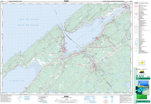 21A/12 Digby Topographic Map Nova Scotia