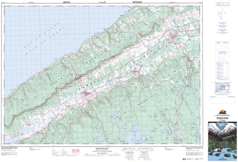 21A/14 Bridgetown Topographic Map Nova Scotia Tyvek