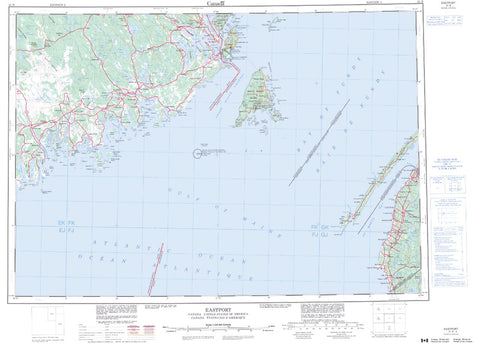 21B Eastport Topographic Map Nova Scotia