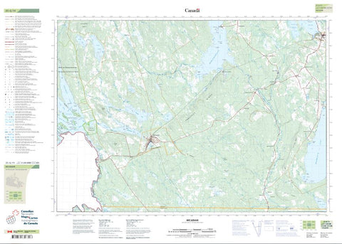 21G/11 McAdam Topographic Maps New Brunswick