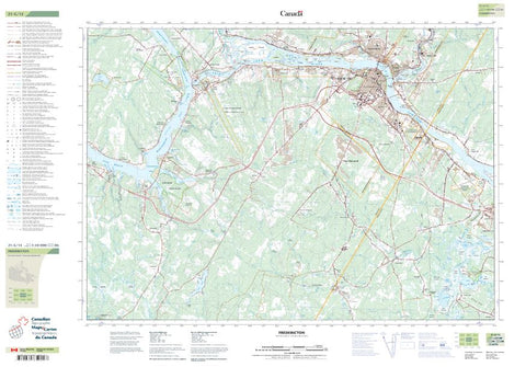 21G15 Fredericton Topographic Maps New Brunswick Maps More