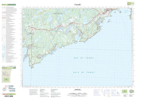 21G/01 Musquash Topographic Maps New Brunswick