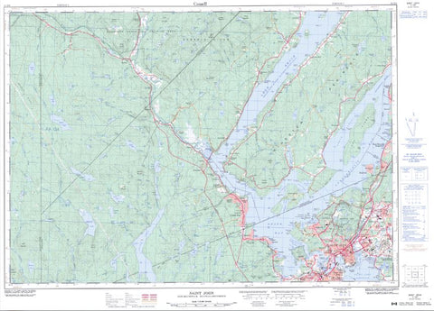 21G/08 Saint John Topographic Maps New Brunswick