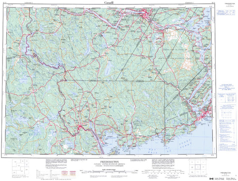 21G Fredericton Topographic Maps New Brunswick Maps More