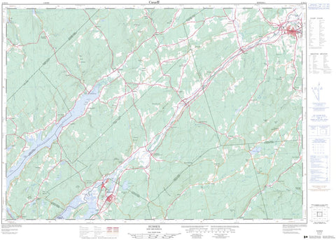 21H/12 Topographic Maps Sussex New Brunswick