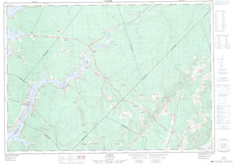21H/13 Topographic Maps Codys New Brunswick
