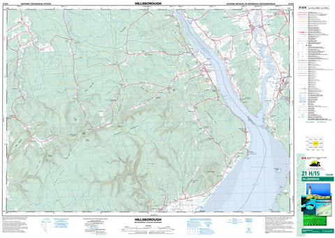 21H/15 Topographic Maps Hillsborough New Brunswick