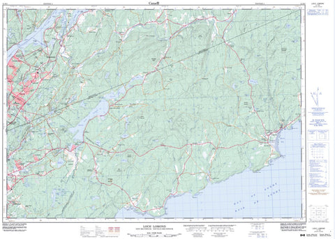 21H/05 Topographic Maps Loch Lomond New Brunswick