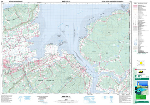 21H/01 Wolfville Topographic Map Nova Scotia