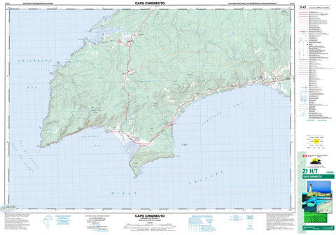 21H/07 Cape Chignecto Topographic Map Nova Scotia