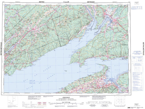 21H Topographic Maps Nova Scotia/New Brunswick