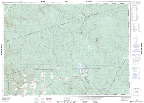 21J/11 Juniper Topographic Maps New Brunswick