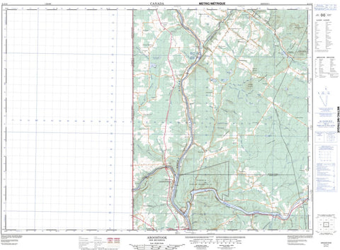 21J/13 Aroostook Topographic Maps New Brunswick