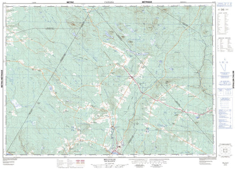 21J/03 Millville Topographic Maps New Brunswick
