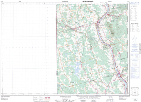21J/05 Florenceville Topographic Maps New Brunswick