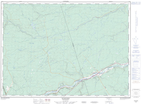 21J/09 Doaktown Topographic Maps New Brunswick