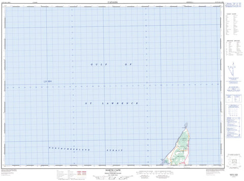 21P/01 & 11M/04 North Cape Topographic Map Prince Edward Island