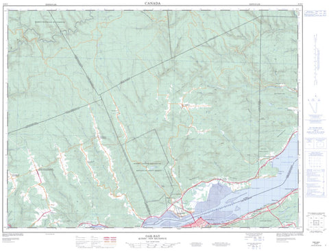 22B/02  Oak-Bay Topographic Maps New Brunswick