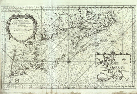 2800 Eastern Coast of North America, 1757, Bellin