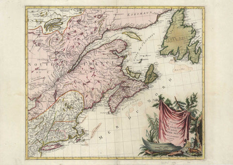 G3094 Eastern Part of Canada, 1776, Santini