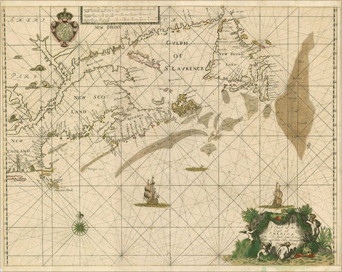 3539 Chart of the Coast of America, 1674, Seller