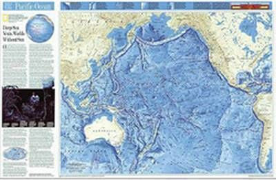 "Pacific Ocean Floor Wall Map 32"" X 23"""