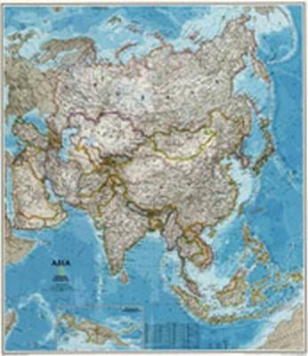 "Asia Classic Wall Map 38"" X 33"""