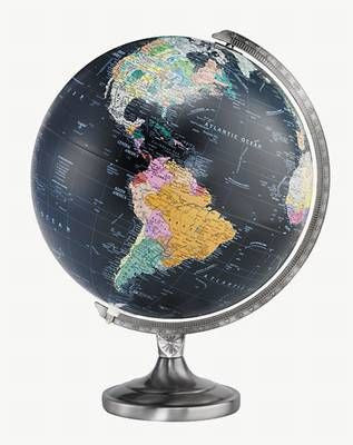 "Orion Black  12"" Illuminated Globe"