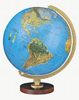"Livingstone 12"" Blue Illuminated Globe"