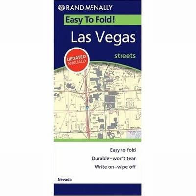 Las Vegas Rand McNally Easy Finder Map Maps More - Rand mcnally easy to fold maps